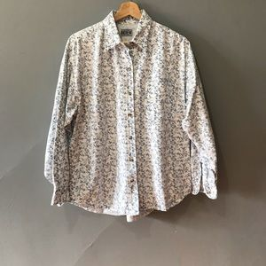 vintage long sleeve floral button down shirt